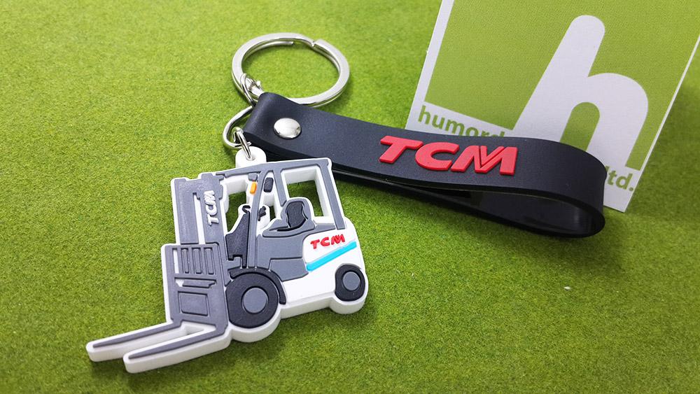 พวงกุญแจยางหยอด รถโฟล์คลิฟท์ TCM
